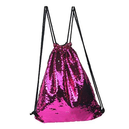 Mitlfuny handbemalte Ledertasche, Schultertasche, Geschenk, Handgefertigte Tasche,Jungen-Mädchen-Paillette-bunter Paket-Beutel-Reise-Prinzessin Bling Backpack For child (Klassiker Schule Mädchen Kostüm)