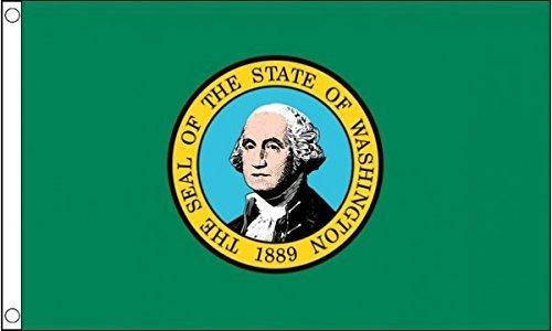 5ft x 3ft 5'x3' Flagge Washington Amerika State USA American American