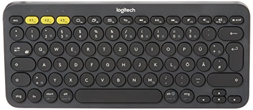Logitech K380 Bluetooth-Tastatur für Windows, Mac, Chrome und Android Dunkelgrau (QWERTZ, Deutsches Tastaturlayout)