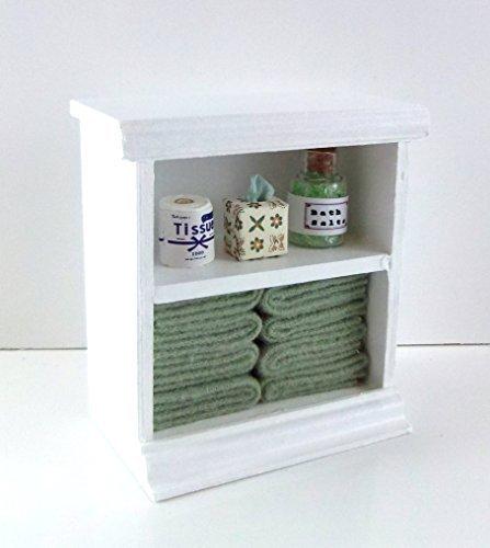 Preisvergleich Produktbild Puppenhaus Miniatur Möbel Klein Regal & L Grün Bad-accessoires