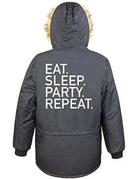 Eat Sleep Party Repeat Parka Girls Nero Certified Freak