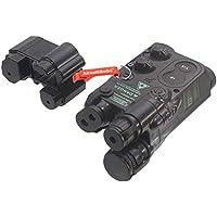 PEQ-16 Batería de Litio / NiCD/NiMH Mini Tipo Caja de batería para Estándar 20mm Rail (Negro) - Llavero Incluido