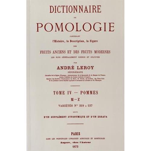 Dictionnaire de Pomologie - Tome IV (Pommes)