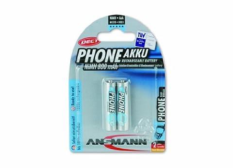 ANSMANN Akku Batterie für Schnurlostelefon Micro AAA 800mAh Phone DECT maxE noch mehr Power ohne Memory-Effekt geringe Selbstentladung LSD sofort einsatzbereit 2er (Telefon Von Amazon)