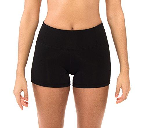 Body Glove Damen Get Shorty Performance Fit Short Bikini, Schwarz, Large