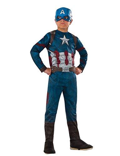 Generique - Captain America Kostüm für Kinder - Avengers 110/122 (5-7 Jahre)