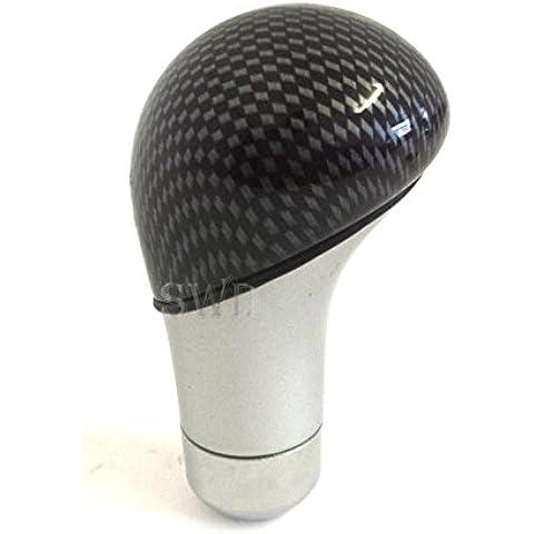 De fibra de carbono y efecto de cromo Custom pomo de palanca de cambio de coche universal de accesorios de coche deportivo nuevo Gear Shift Knob
