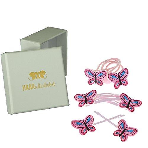 HAARallerliebst Haarschmuck Set (6 teilig | Schmetterlinge) für Kinder inkl. Schachtel zur...