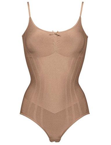Body contenitivo triumph retro sensation senza ferretto senza cuciture nudo (m, beige)