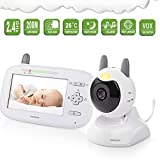 DBM-TOR Baby Monitor Wireless Audio Video Babyphone con Fotocamera Digitale Visione Notturna Monitoraggio della Temperatura e Citofono 2.4 GHz