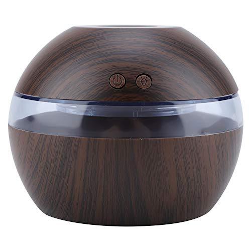 Humidificador Aromaterapia, Humidificador Aceites Esenciales, 300ml Difusor de Aceites Esenciales, USB con Colores de Luz LED, para Hogar, Oficina, Dormitorio, Etc(Oscuro de Madera)