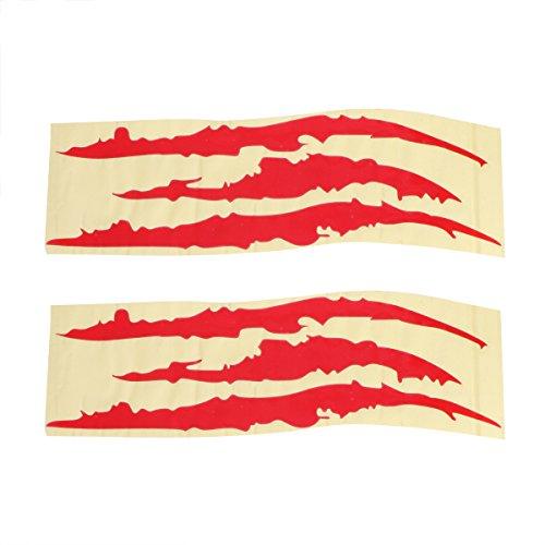 aue Marks Aufkleber Reflektierende Aufkleber Monster Krallen Scratch Scheinwerfer Aufkleber für Auto (rot) (Roten Monster Kostüme)
