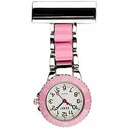 Censi 2 tone - Pink & Silver Nurses Medical Doctors Fob Watch