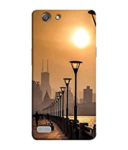 FUSON Designer Back Case Cover for Oppo Neo 7 :: Oppo A33 (Nature Sun Shine At Beachb Lovers Park Beautifull Beach)