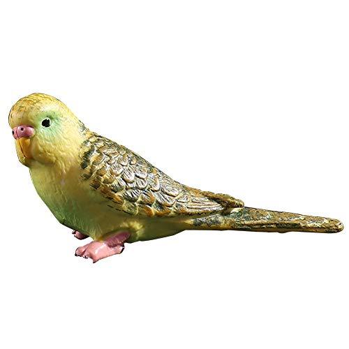 paletur88 Simulation Mini Papagei Kawaii Simulation Wald Papagei Zahlen Miniatur Tier Modell Vogel Figur Feenhaft Basteln Dekoration Zoo Statue Spielzeug (Blau) - Grün, Free Size (Miniatur-wald Tiere)