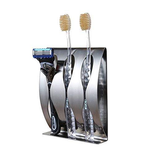 YiYaoFa Zahnbürstenhalter Wand montiert, 3m Selbstklebend langlebigem Edelstahl Rasierer Halter mit 3Loch -