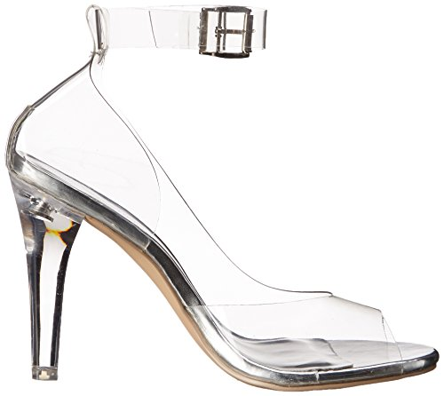 Pleaser Damen Clearly 430 Plateausandalen Transparent (Clr)
