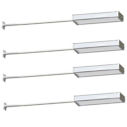 Patio Stein (MCTECH® 48 LEDs Solarleuchten mit Bewegungsmelder und Stents Solarlampe Wasserdichte Außenleuchte für Flur Wege Terrassen Patio Gärten (4 Stück))