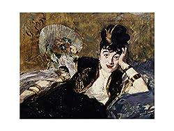 E. Manet - Lady with the fans Nina de Callias 1874 Detail Print 60x80cm