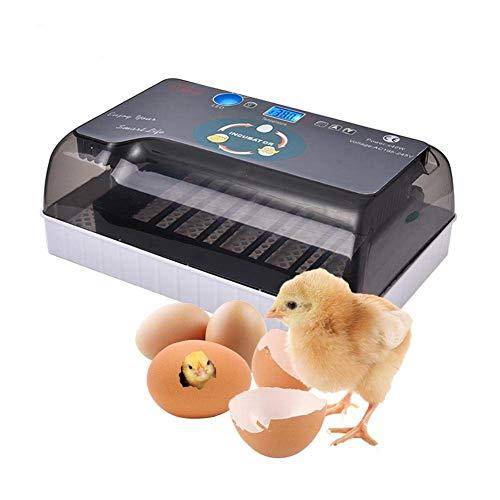 Incubatrice per uova, incubatrice automatica digitale incubatrice uovo, illuminazione a led ad alta efficienza e funzione automatica di tornitura dell'uovo, per uova, uova di anatra, uova di fuoco