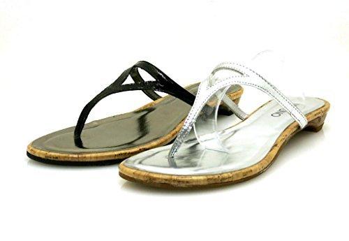 Via Uno Tongs Bride interorteils Cuir Mule Chaussures de plage 20719601 chic