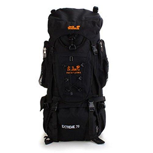 70L Große Kapazität Reise Rucksack Profi Bergsteigen Tasche Black