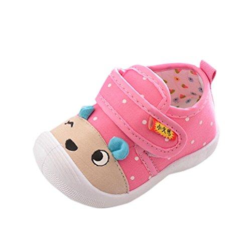 3b213081 Logobeing Bebé Niña Sandalias Princesa Zapatos Bebe Niña Verano Zapatillas  Antideslizantes de Dibujos Animados Zapatillas Squeaky