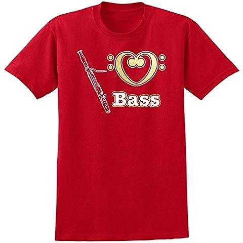 Bassoon Love Bass - Musica T Shirt 13 Taglia 5