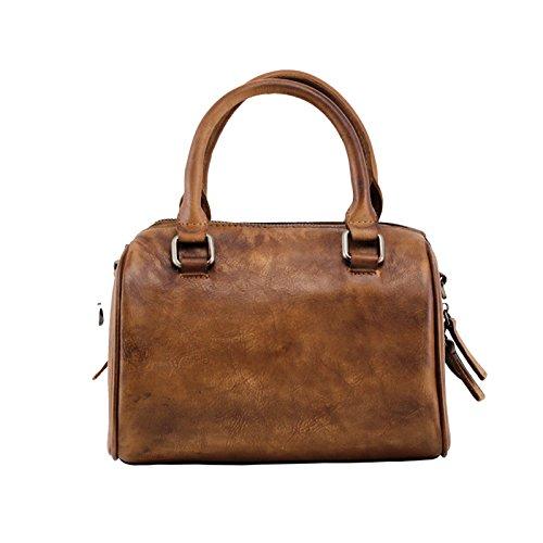 Portable simple handmade diagonale sacs à main en cuir sac à bandoulière en cuir sacs à main rétro original et décontracté Camel