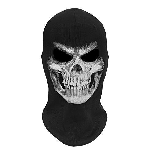 VCB Totenkopf Geist Masken Halloween Punisher Deathstroke Reaper Vollmaske - schwarz