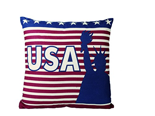 Out of the blue 190209 Kissen, Stars und Stripes USA, 100 prozent Baumwolle, circa 350 g Füllgewicht, 40 x 40 cm