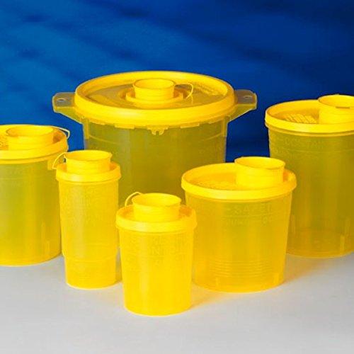 Servoprax I9 0705 Servobox Sicherheitscontainer für Spritzen und Kanülen, Kleinmodell Bild Type, 500 mL Volumen, 110 mm Höhe, 90 mm Oben Durchmesser (100 er-Pack) -