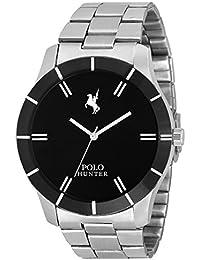 Polo Hunter Analogue Black Dial Chain Men's Watch-301