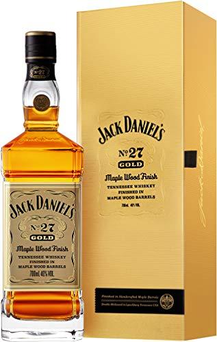 Jack Daniel\'s No. 27 Gold - Tennessee Whiskey - 40{9b203041351928de9cf9a8d37cad22ad488a5e3e4e56cc370aa31c5d8b4ada03} Vol. (1 x 0.7 l)/Zweifach gelagert, zweifach holzkohlegefiltert. Weltweit einmalig.