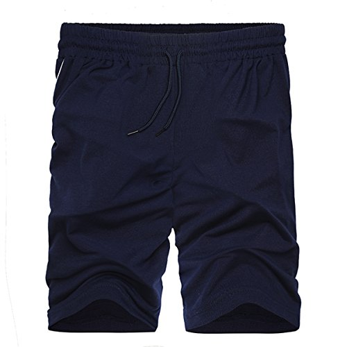 INCERUN Herren Sport Joggen und Training Shorts Fitness Basic Kurze Hose Jogging Hosen Sweatpants Jogger Schwarz 2XL (Kurze Hose Liner)