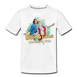 Bibi Und TinaTohuwabohu Total Freundinnen Umarmung Teenager Premium T-Shirt, 146/152 (10 Jahre), Weiß