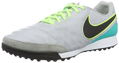 Nike Herren Tiempox Genio Ii Leather Tf Fußballschuhe Mehrfarbig (Wolf grey/black-clr jade-metallic silver)