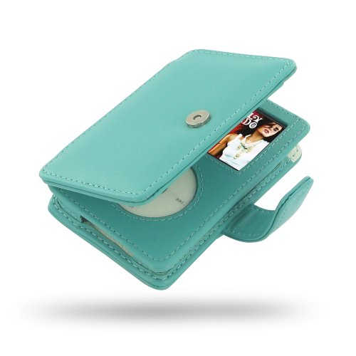 Apple New iPod Classic 2nd generation (120GB/160GB) Leather Case / Cover (Handmade Genuine Leather) - Book Type (Aqua) by Pdair