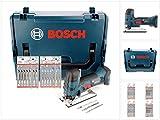 Bosch GST 18 V-Li S Professional Akku Stichsäge Solo in L-Boxx (06015A5101) + 20 x Stichsägeblätter Holz/Metall