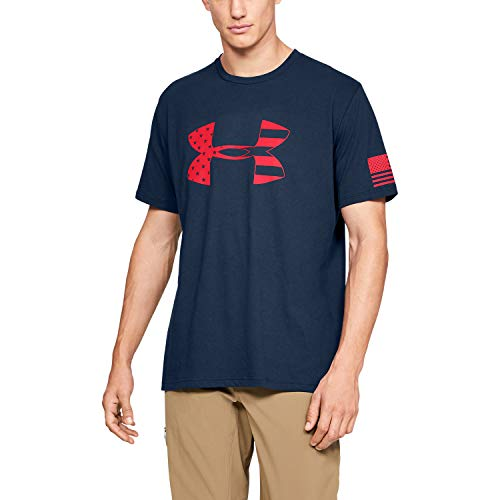 Under Armour Herren Freedom Tonal Big Flag Logo T-Shirt kurzärmelig, Academy (408)/Red, Large -