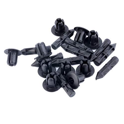 10 x Gris Plastique Sapin TRIM CLIPS 8 mm trou 32 mm tête de voiture Intérieur Fixations