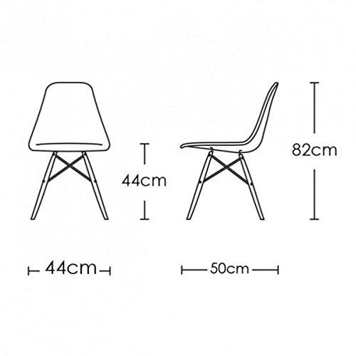 6x-Moderne-Eiffel-Inspir-Six-Chaises-Siges-en-plastique-blanc