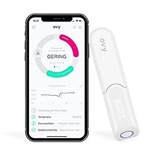 Ovy Bluetooth Basalthermometer zur Zykluskontrolle | Mit gratis App (iOS & Android) | Kinderwunsch, Zykluskontrolle oder hormonfreie Verhütung