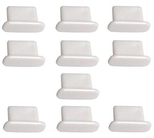 tz Stöpsel Dock Anschluss Dock-Eingang Schutz kompatibel mit iPhone 8, X, 7, 7 Plus, 6, 6s Plus, 5, 5s, 5c, SE, iPad Air, iPad Mini 1-4, iPad 4, iPad Pro in Weiß ()