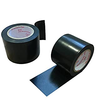 Maveek 2 Rolls Electrical Tape 50mm*15m Black Silicone Waterproof Repair Insulation Tape