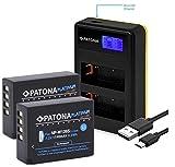 Patona Platinum - Juego de 2 baterías de Repuesto para Fujifilm NP-W126s (NP-W126) con Cargador Mini LCD Dual 181957 (USB)