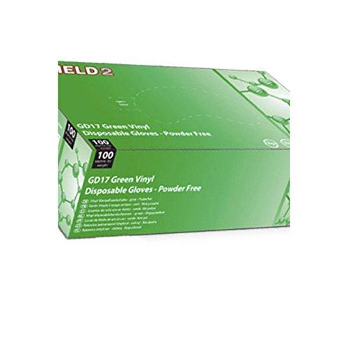 Guanti in vinile verde Shield2–Cartone Di 10scatole di 100–AQL–gd17V _ 10
