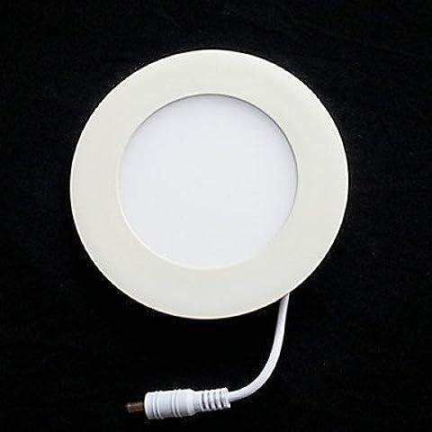 GG LED Light Panel, 15 Luce, Moderno ultrasottile rotonda di alluminio PC Casting , White-90-240V