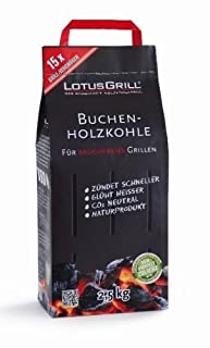 LotusGrill Buchen-Holzkohle 2,5 kg! Speziell entwickelt für den raucharmen Holzkohlegrill/Tischgrill (B00BVDFFOG) | Amazon price tracker / tracking, Amazon price history charts, Amazon price watches, Amazon price drop alerts