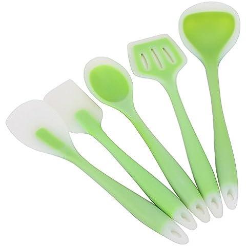 asentechuk® 5pcs/set utensili da cucina, in silicone